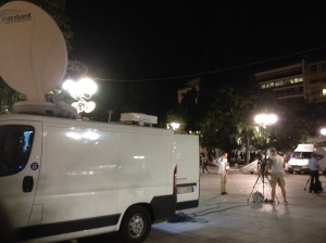 news TV reporters syntagma sq