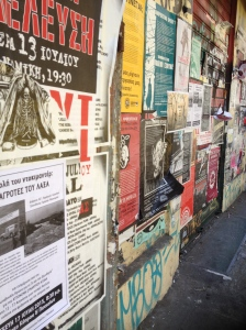 postered streets