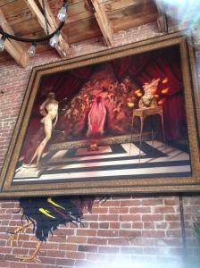 fiery jesus vagina painting
