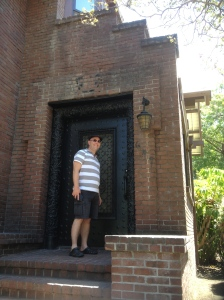 Dominic outside what was Fatty Arbuckle's front door.