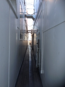 Alleyway squeeze!