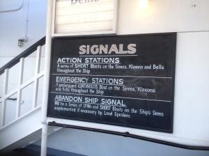 Signal sign.