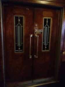 Art Deco doors.