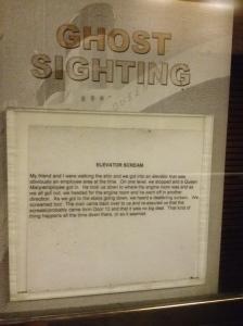 Ghost sighting.