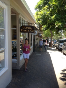 After some beach time, we head to the town. It's very pretty in Carmel...and very middle-class.