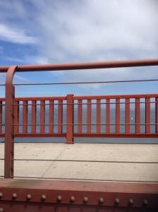 odd view of the GG bridge