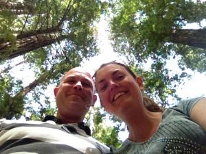 selfie with tree tops