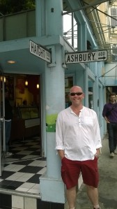 Dom at Haight-Ashbury. Looking for his inner-hippie (he hasn't found it...)