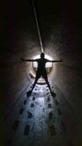 Karen in Dam tunnel...aka the Da Vinci (wo)man.
